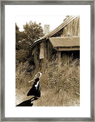 Story Of A Girl - Rural Life Framed Print