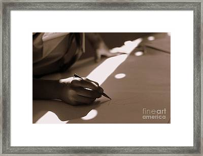 Story Of Light And Shadows Framed Print by Vishakha Bhagat