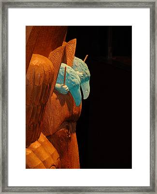 Story Pole Framed Print by Cheryl Hoyle