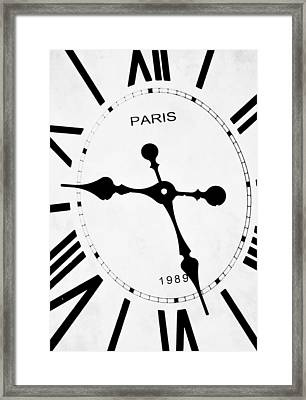 Clock Framed Print by Chastity Hoff