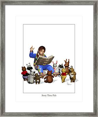 Story Time Pals Framed Print
