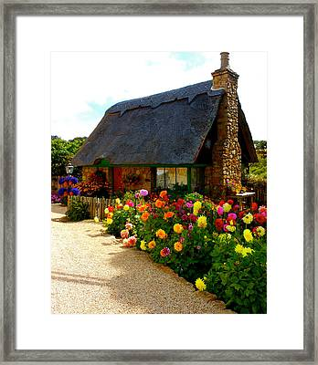 Storybook Cottage By The Sea Framed Print