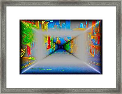 Comic Book Alley Framed Print