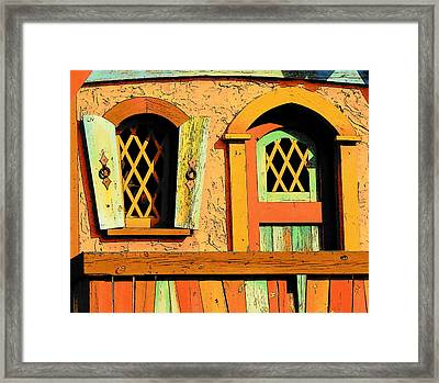 Storybook Window And Door Framed Print by Rodney Lee Williams
