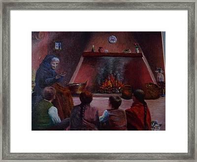 Storyteller Framed Print by Angel de Paz