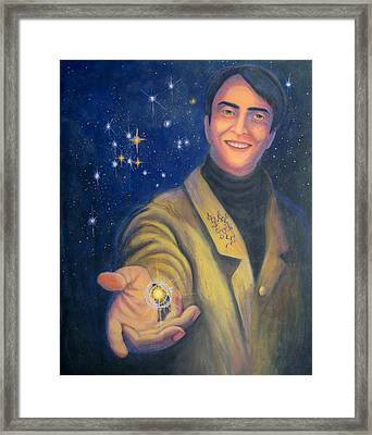 Storyteller Of Stars - Artwork For The Science Tarot Framed Print