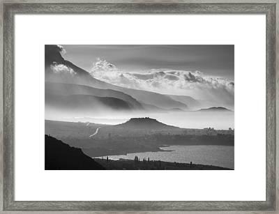 Stoupa Acropolis Mani Greece Framed Print by Peter Eastland