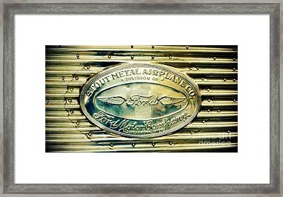 Stout Metal Airplane Co. Emblem Framed Print by Susan Garren