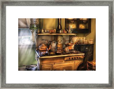 Stove - What's For Dinner Framed Print by Mike Savad