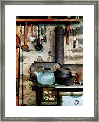 Stove With Tea Kettle Framed Print