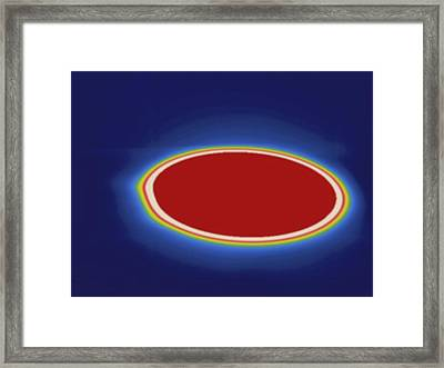 Stovetop Burner, Thermogram Framed Print by Science Stock Photography