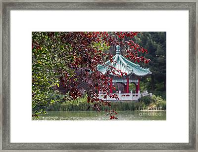 Stow Lake Pavilion Framed Print