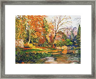 Stowe Garden Dream Framed Print by David Lloyd Glover