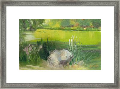 Stowe Lake From Memory Rock Framed Print