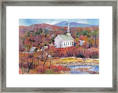 Stowe Village Framed Print by Sherri Crabtree