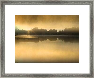 Stowell Lake On Salt Spring Island Framed Print by Lyn  Perry