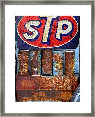 Stp Oil Treatment Sign Framed Print by David Lee Thompson