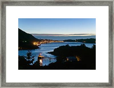 St.paul Boat Harbor In Morning Twilight Framed Print by Kevin Smith
