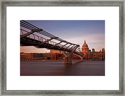 St.paul's From The South Bank Framed Print