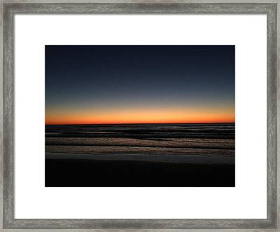 St.pete Sunset 1 Framed Print