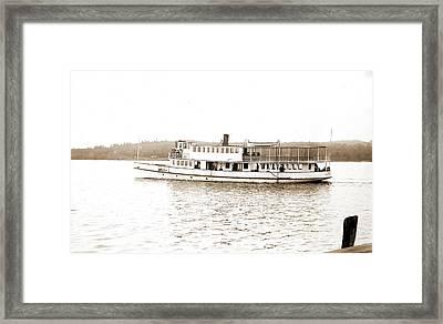 Str. Governor Endicott, Lake Winnipesaukee Framed Print