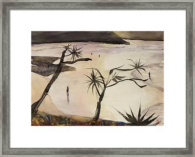 Stradbroke Beach Framed Print