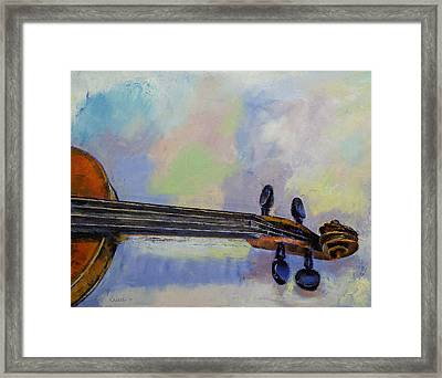 Stradivarius Framed Print by Michael Creese