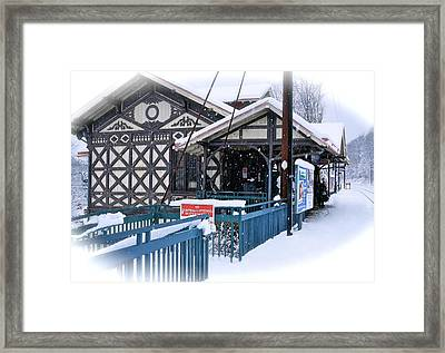 Strafford Station Framed Print by Ira Shander