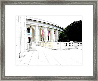 Straight And Narrow Framed Print by Angelia Hodges Clay