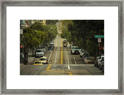 Straight And Narrow Framed Print