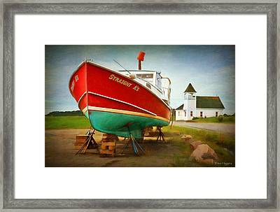 Straight A's  Beals Deals Island  Maine Framed Print by Dave Higgins