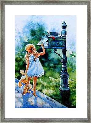 Straight From My Heart Framed Print