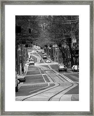 Straight Lines Framed Print by David Bearden