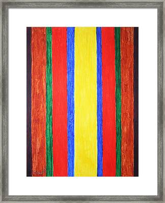 Framed Print featuring the painting Vertical Lines by Stormm Bradshaw