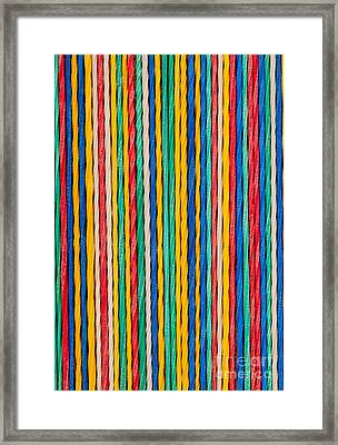 Straight Framed Print by Shawn Hempel