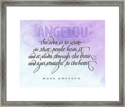 Straight To The Heart Framed Print