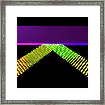 Straight Wave Reflection Framed Print by Russell Kightley