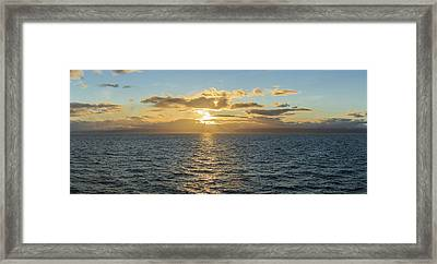 Strait Of Magellan At Sunset, Southern Framed Print by Panoramic Images