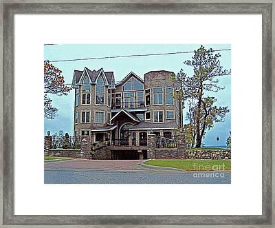 Straits Of Mackinaw Framed Print by MJ Olsen