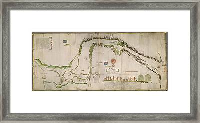 Straits Of Magellan Framed Print by British Library