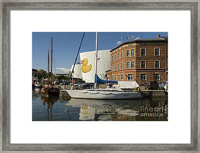 Stralsund Harbour Germany. Framed Print by David Davies