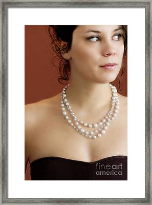 Strand Of Pearls Framed Print by Margie Hurwich