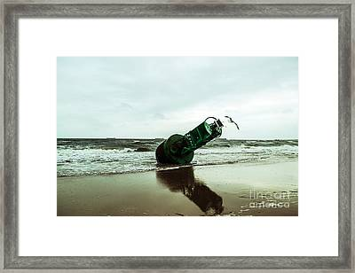 Framed Print featuring the photograph Stranded by Angela DeFrias