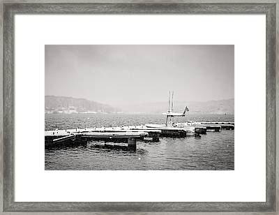 Stranded In The Storm Framed Print by Eduard Moldoveanu