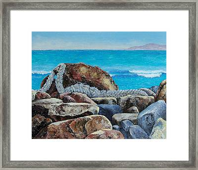 Framed Print featuring the painting Stranded by Susan DeLain