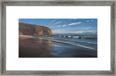 Strands Beach Dana Point Oil Painting Framed Print