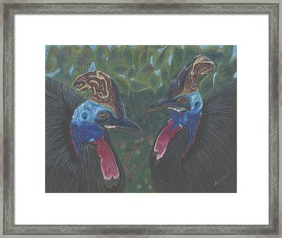 Framed Print featuring the drawing Strange Birds by Arlene Crafton