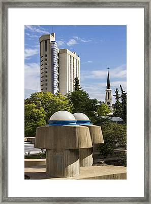Strange Buenos Aires Architecture Framed Print by For Ninety One Days