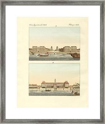 Strange Buildings In England Framed Print by Splendid Art Prints