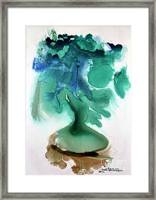 Framed Print featuring the painting Strange Compote by Joan Hartenstein